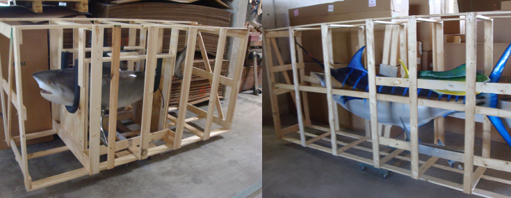 Fishmounts crated