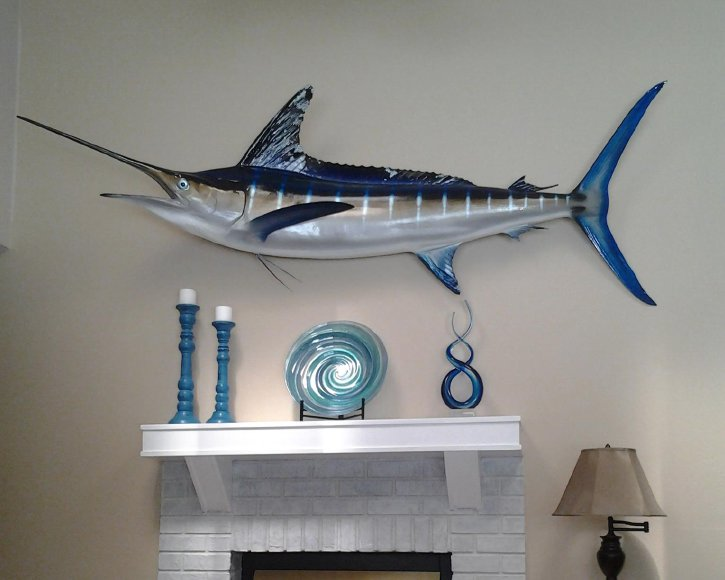 Blue Marlin from Gray Taxidermy over fire place